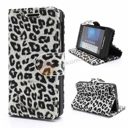 leopard geldb rse tasche f r blackberry z10 mit hard. Black Bedroom Furniture Sets. Home Design Ideas