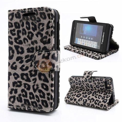 leopard geldb rse tasche f r blackberry z10 mit hard schutzh lle standfunktion ebay. Black Bedroom Furniture Sets. Home Design Ideas